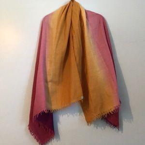 Bajra wool and silk scarf! ombré color pattern